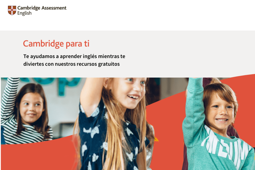 Cambridge para ti: nova plataforma de Cambridge English Assessment