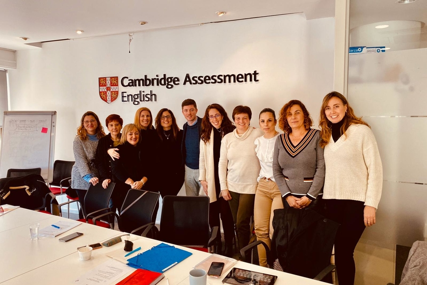 Meeting with other university centre CEMs at the Cambridge Assessment English offices in Madrid